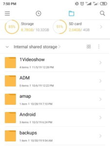 what is android folder in mobile